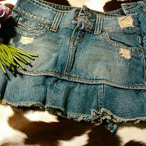 6 for 20 sale 2 super cute denim mini skirts!